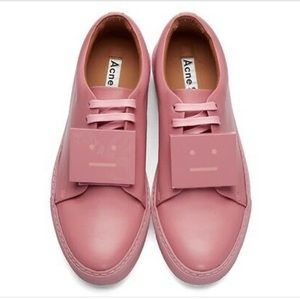 ACNE STUDIOS Leather Adriana Turnup Sneakers